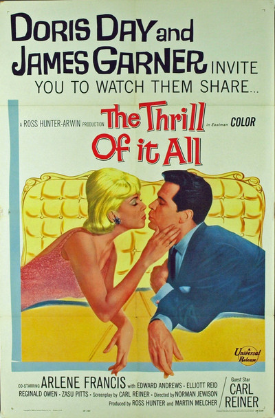 THRILL OF IT ALL, THE (1963) 3120 Original Universal Pictures One Sheet Poster (27x41). Folded. Fine Plus.