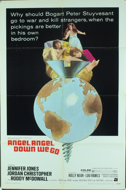 ANGEL, ANGEL, DOWN WE GO (1969) 3125 Original American International Pictures One Sheet Poster (27x41).  Folded.  Very Fine Condition.