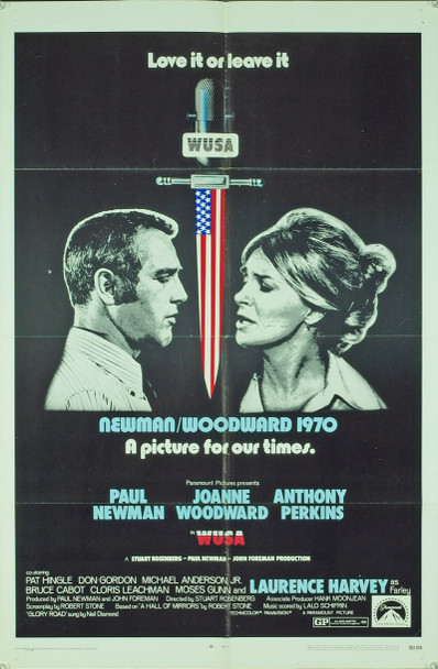WUSA (1970) 3133 Original Paramount Pictures One Sheet Poster (27x41). Folded. Good condition.