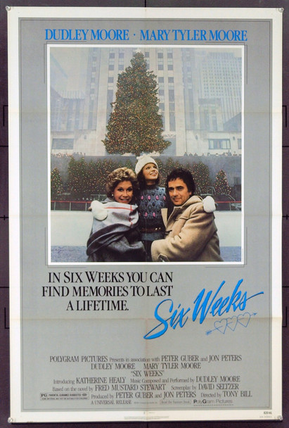 SIX WEEKS (1982) 3156 Original Universal Pictures One Sheet Poster (27x41). Folded. Near Mint.