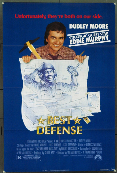 BEST DEFENSE (1984) 3160 Original Paramount Pictures One Sheet Poster (27x41). Folded. Near Mint.