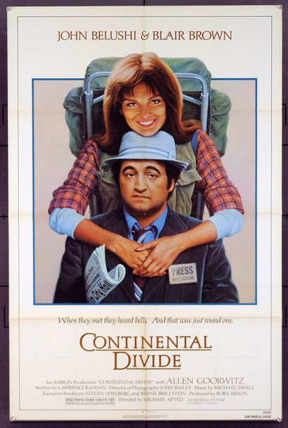 CONTINENTAL DIVIDE (1981) 3165 Original Universal Pictures One Sheet Poster (27x41). Folded. Near Mint Condition.
