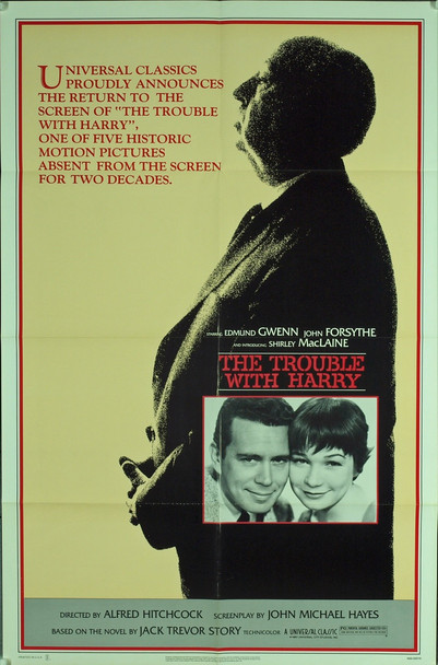 TROUBLE WITH HARRY, THE (1955) 3185 Original Universal Pictures 1983 Re-Release One Sheet Poster (27x41).  Folded.  Very Fine Condition.