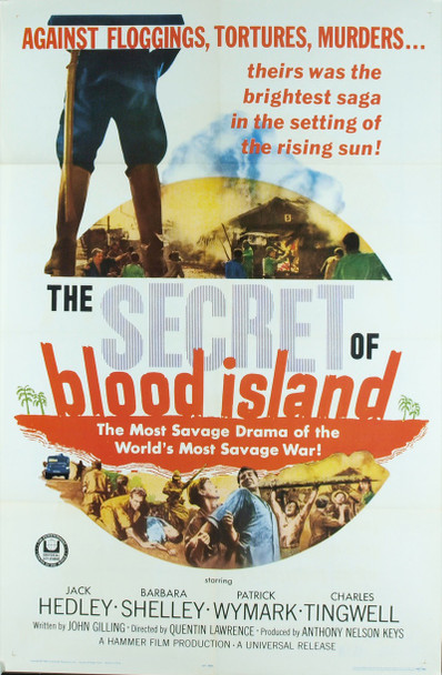 SECRET OF BLOOD ISLAND, THE (1965) 3332 Original Universal Pictures One Sheet Poster (27x41).  Folded.  Very fine condition.