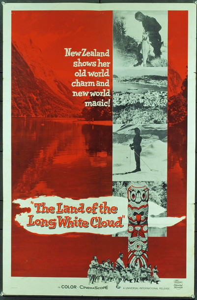 LAND OF THE LONG WHITE CLOUD, THE (1966) 3370 Original Universal Pictures One Sheet Poster (27x41).  Folded.  Very Good Condition.