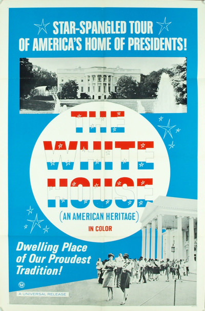 WHITE HOUSE, THE (1966) 3380 Original Universal Pictures One Sheet Poster (27x41).  Folded.  Very Fine Condition.
