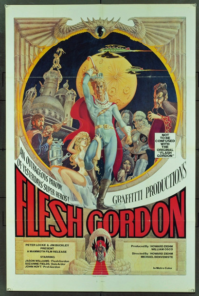 FLESH GORDON (1974) 3678 Original Mammoth Films One Sheet Poster (27x41). Folded. Very fine condition.