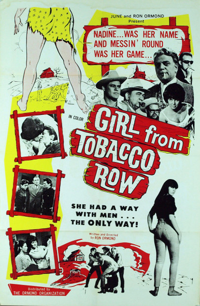 GIRL FROM TOBACCO ROW, THE (1966) 4144 Original Ormond Organization One Sheet Poster (27x41).  Folded.   Fine Plus Condition.