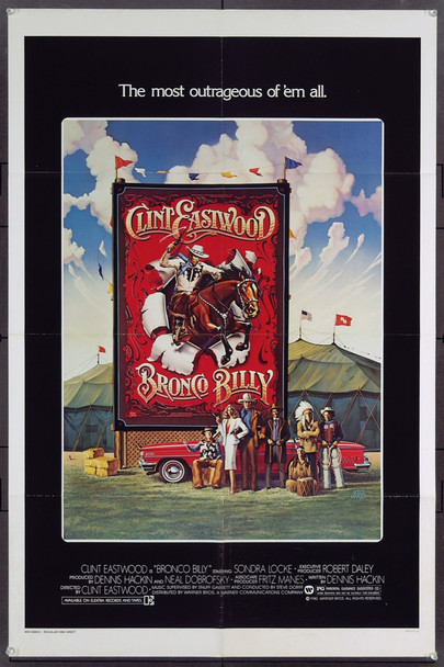 BRONCO BILLY (1980) 4169 Original Warner Bros. One Sheet Poster (27x41).  Folded.  Very fine plus condition.