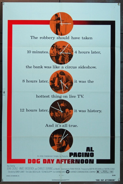 DOG DAY AFTERNOON (1975) 4202 Original Warner Brothers One Sheet Poster (27x41). Folded. Very fine condition.