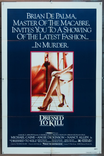DRESSED TO KILL (1980) 4204 Original Filmways Pictures One Sheet Poster (27x41). Folded. Very fine condition.