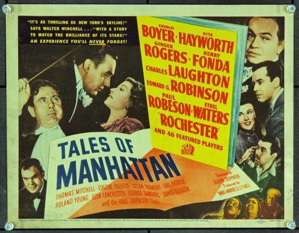 TALES OF MANHATTAN (1942) 5238 Original 20th Century-Fox Title Lobby Card (11x14). Very fine condition.