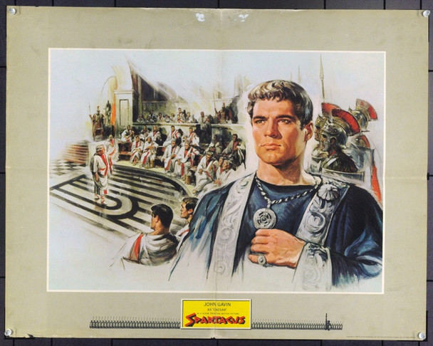 SPARTACUS (1960) 5381 Original Universal Pictures 70mm Roadshow Half Sheet Poster (22x28) of John Gavin as the young Julius Caesar .