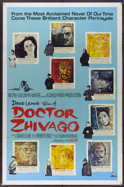 DOCTOR ZHIVAGO (1964) 5390 Original MGM Roadshow Style C One Sheet Poster (27x41).Folded. Fine Plus.  Art by Piotrowski.