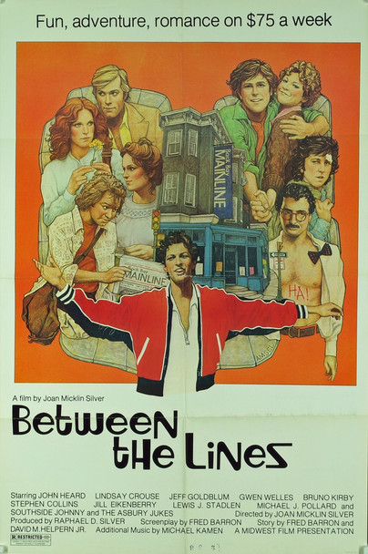 BETWEEN THE LINES (1977) 5400 Original Midwest Films One Sheet Poster (27x41). Folded. Very Fine Plus Condition.