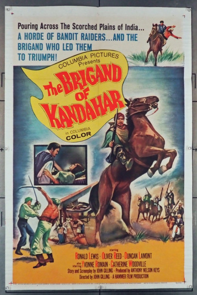 BRIGAND OF KANDAHAR, THE (1965) 5406 Original Columbia Pictures One Sheet Poster (27x41).  Folded.  Very Fine Condition.