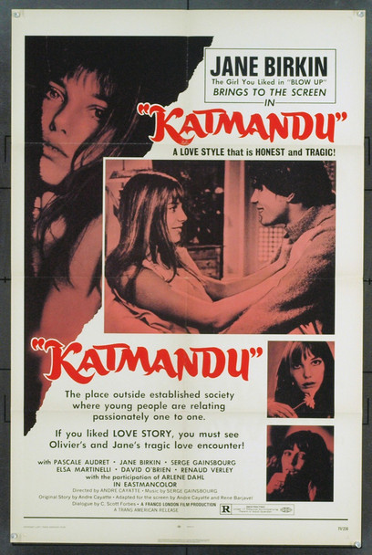 CHEMINS DE KATMANDU, LES (1969) 5408 Original American International Pictures One Sheet Poster (27x41). Very Fine.