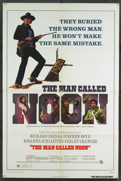 MAN CALLED NOON, THE (1973) 5422 U.S. One sheet Poster. Folded. Very Good.