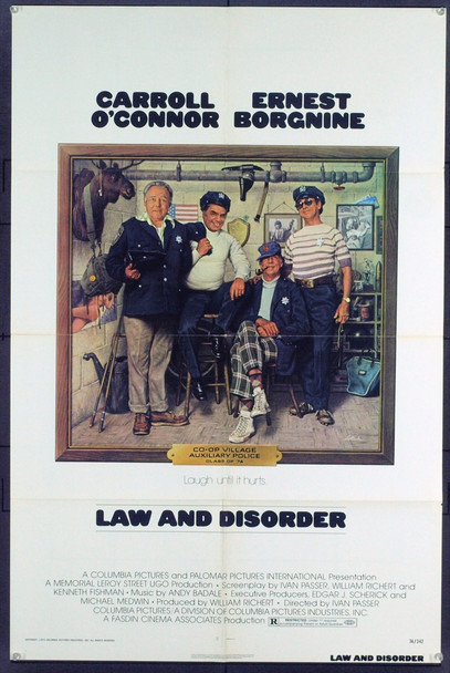 LAW AND DISORDER (1974) 5423 Original Columbia Pictures One Sheet Poster (27x41). Folded. Very Fine Condition.