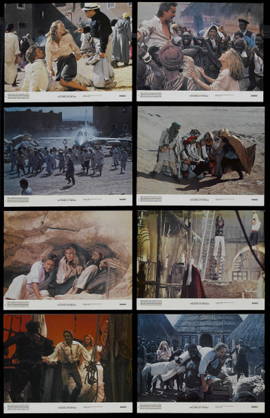 JEWEL OF THE NILE, THE (1985) 5426 Original 20th Century-Fox Complete Set of 8 Lobby Cards (11x14). Very Fine to Near Mint.