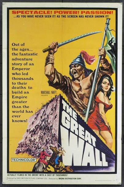 GREAT WALL, THE (1965) 5441 Original Daiei Studios One Sheet Poster (27x41).  Folded.  Very Fine Plus.