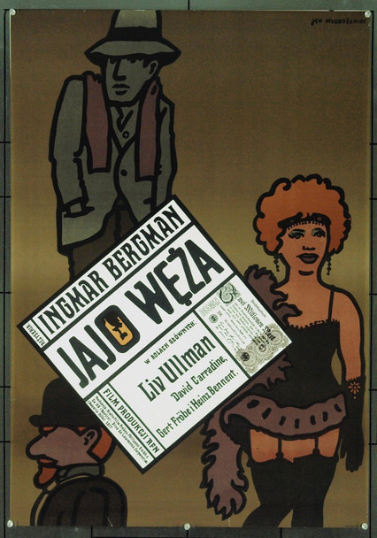 SERPENT'S EGG, THE (1977) 5552 Original Polish Poster (27x37). Jan Mlodozeiec Artwork. Very Fine Condition.