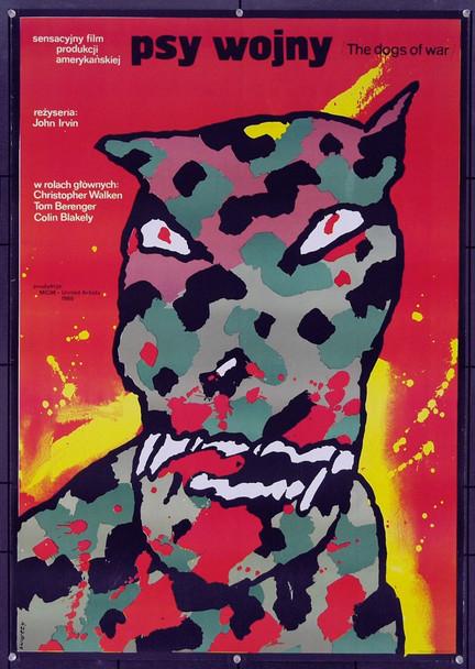 DOGS OF WAR, THE (1980) 5556 Original Polish Poster (26x38). Release of 1984. Art by Waldermar Swierzy. Very Fine.