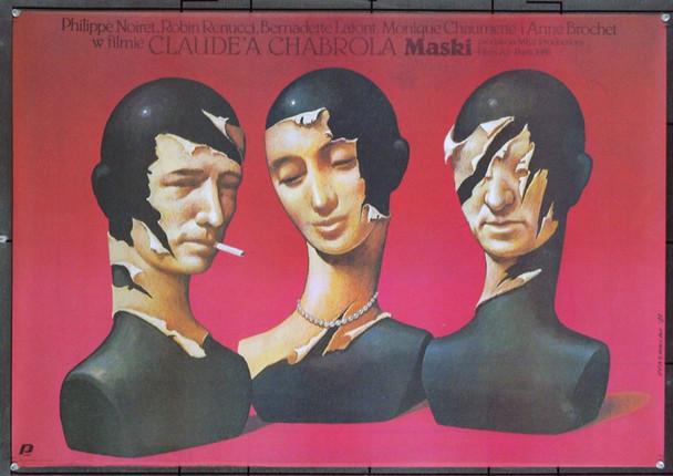MASQUES (1987) 6219 Original Polish Poster (26x33). Art by Wieslaw Walkuski. Very Fine Plus.