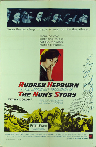 NUN'S STORY, THE (1959) 5965 Original Warner Brothers One Sheet Poster (27x41). Folded. Very fine condition.