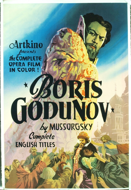 BORIS GODUNOV (1954) 6192 Original Artkino Pictures One Sheet Poster (29x43). Linen-backed. Very fine condition.