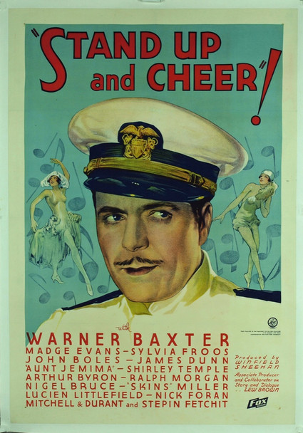 STAND UP AND CHEER (1934) 6193 Original Fox Film Corporation One Sheet Poster (27x41). Royal Theater Collection. Art by Russell Patterson. Very Fine To Near Mint Condition.