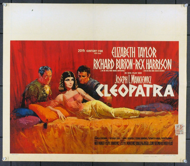 CLEOPATRA (1963) 6287 Original Belgian Poster (21x24).  Folded.  Fine Plus Condition.