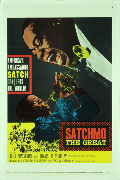 SATCHMO THE GREAT (1957) 6566 Original United Artists One Sheet Poster (27x41). Linen-Backed. Very Fine To Near Mint Condition.