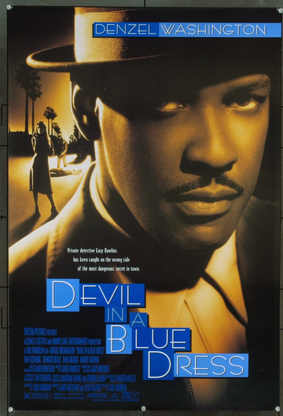 DEVIL IN A BLUE DRESS (1995) 6611 Original TriStar One Sheet Poster (27x41). Unfolded. Near Mint Condition.