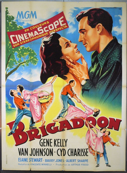 BRIGADOON (1954) 6636 Original French Poster (47x63). Roger Soubie Artwork. Folded. Fine Condition.