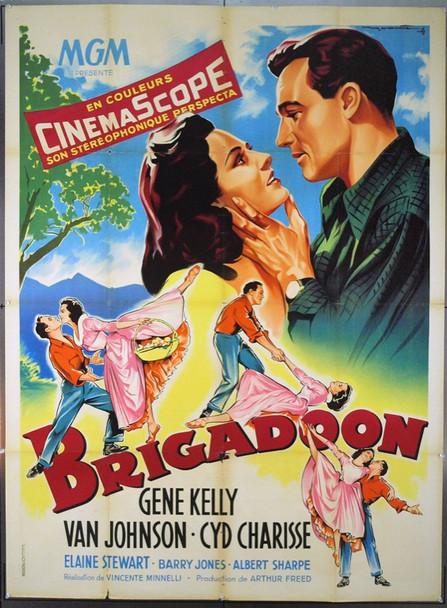 BRIGADOON (1954) 6636 Original French Poster (47x63). Roger Soubie Artwork. Folded. Fine Condition.