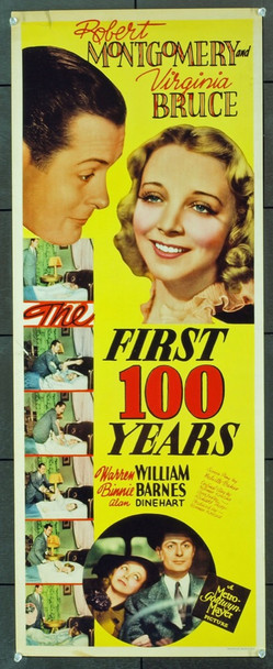 FIRST HUNDRED YEARS, THE (1938) 6719 Original MGM Insert Poster (14x36). Never folded. Fine Plus Condition.