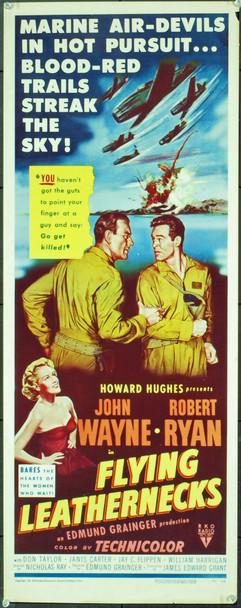 FLYING LEATHERNECKS (1951) 6720 Original RKO Insert Poster (14x36). Folded. Very Fine.