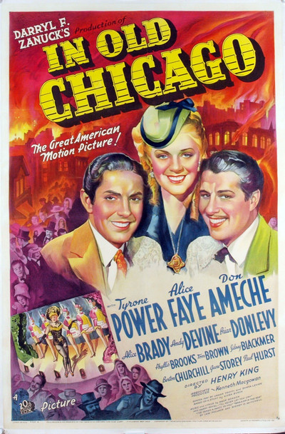 IN OLD CHICAGO (1938) 6904 Original 20th Century-Fox One Sheet Poster (27x41). Stone Lithograph. Linen-Backed. Near mint.