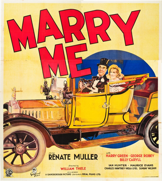 MARRY ME (1932) 6917 British Six Sheet. 80x90. Very Fine. Stone lithograph.