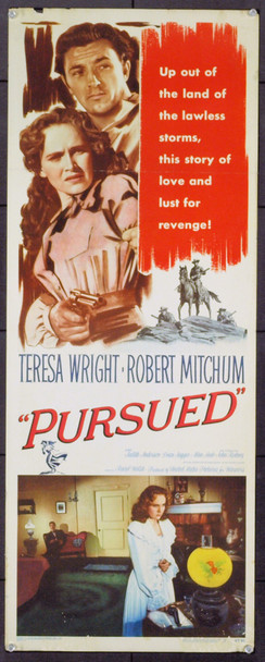 PURSUED (1947) 6981 Original Warner Brothers Insert Poster (14x36). Rolled. Fine Plus
