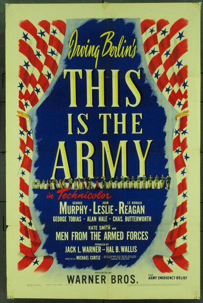 THIS IS THE ARMY (1943) 7351 Original Warner Brothers One sheet poster. Very Good.