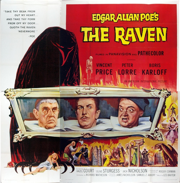 RAVEN, THE (1963) 7420 Original American International Pictures Six Sheet Poster (81x81). Near Mint.