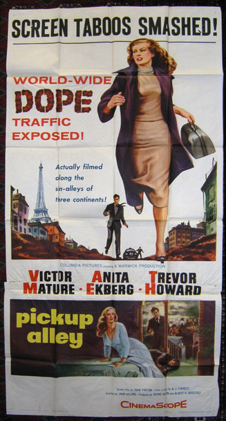 PICKUP ALLEY (1957) 7422 Columbia Pictures Three Sheet Poster (41x81). Folded. Fine.