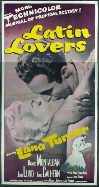 LATIN LOVERS (1953) 7436 Original MGM Three Sheet Poster (41x81). Very Good.
