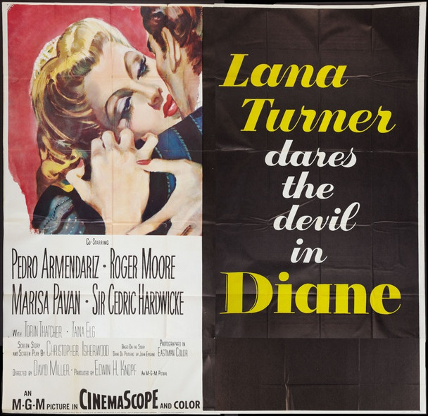 DIANE (1955) 7437 Original MGM Six Sheet Poster (81x81).   Very fine to near mint condition.