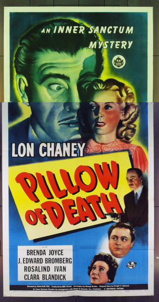 PILLOW OF DEATH (1945) 7805 Original Universal Pictures Three Sheet Poster (41x81). Unmounted. Near Mint.