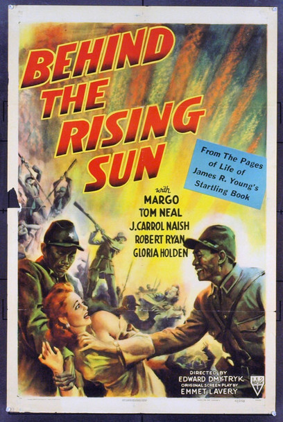 BEHIND THE RISING SUN (1943) 7869 Original RKO One Sheet Poster (27x41). Folded. Very Good.
