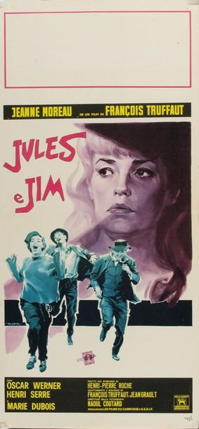 JULES ET JIM (1962) 8028 Original Italian Locandina Poster (13x27). Very Fine Condition.