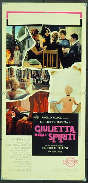 GIULIETTA DEGLI SPIRITI (1965) 8030 Original Italian Locandina Poster (13x27). Very Fine Condition.